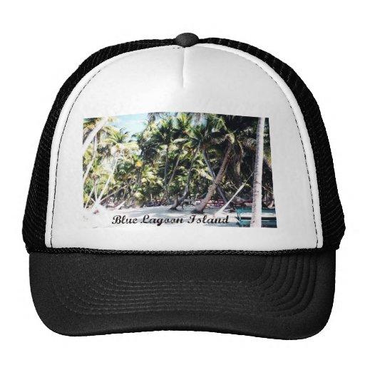 Blue Lagoon Island Trucker Hat