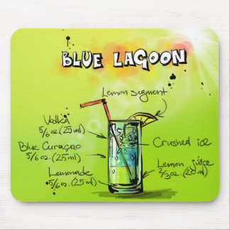 Blue Lagoon Mouse Pad