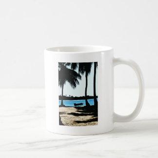 Blue Lagoon Classic White Coffee Mug