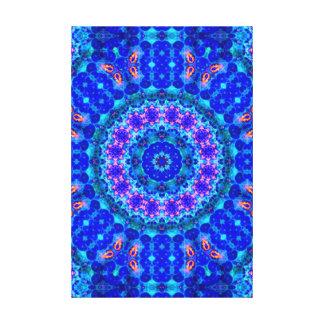 Blue Lagoon of Liquid Shafts of Light Canvas Print