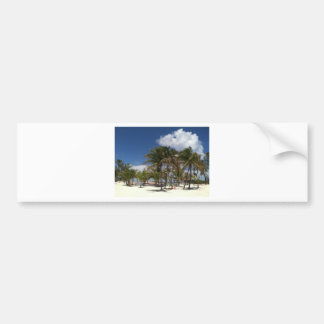 Blue Lagoon Palm Trees Bumper Sticker