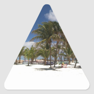 Blue Lagoon Palm Trees Triangle Stickers