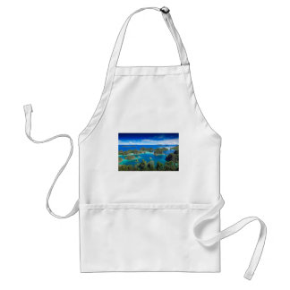 Blue lagoon paradise islands adult apron