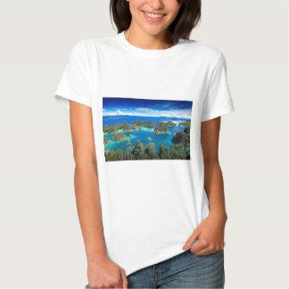 Blue lagoon paradise islands tee shirt