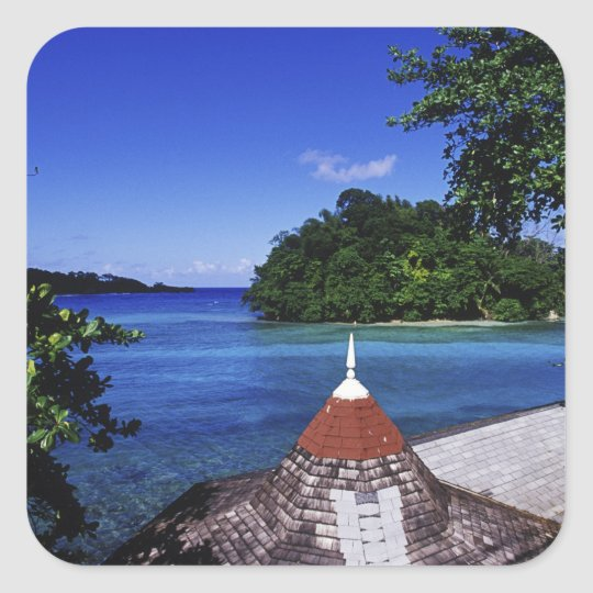Blue Lagoon, Port Antonio, Jamaica Square Sticker
