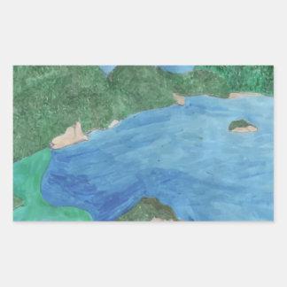 Blue Lagoon Rectangular Sticker