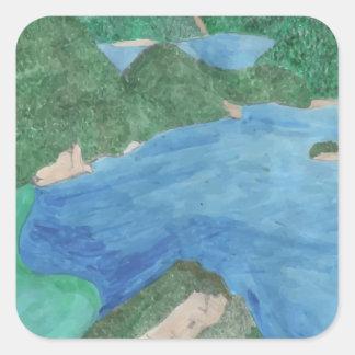 Blue Lagoon Square Sticker