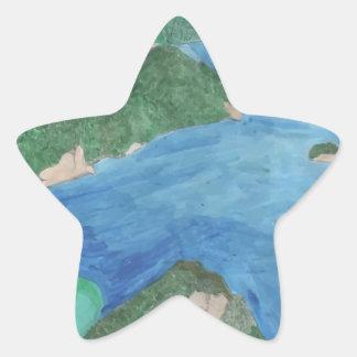 Blue Lagoon Star Sticker
