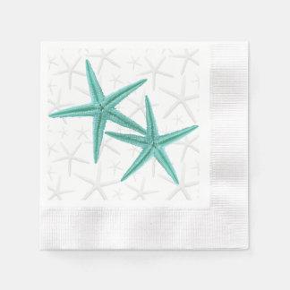 Blue Lagoon Starfish Couple Paper Napkins