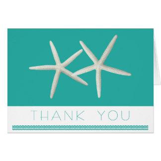 Blue Lagoon Starfish Custom Message Thank You Card