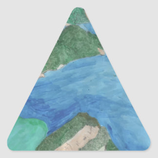 Blue Lagoon Triangle Sticker