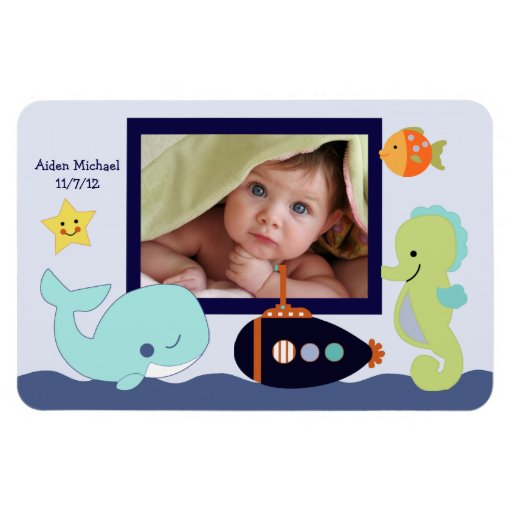 Blue Lagoon/Whale/Fish Photo Magnet Keepsake