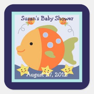 Blue Lagoon/Whale/Fish Stickers/Envelope Seals