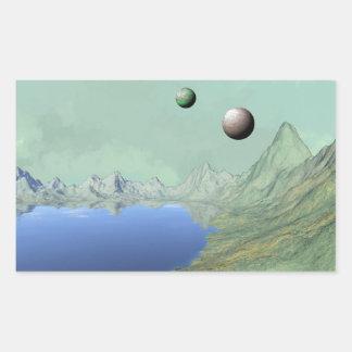Blue Lake Alien Scene Stickers