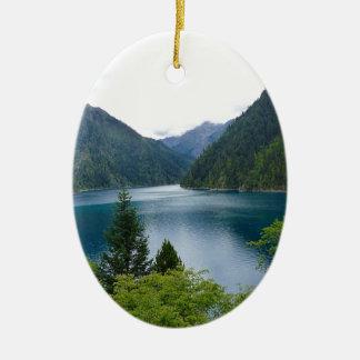 Blue Lake Ceramic Ornament