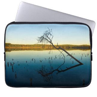 Blue lake laptop computer sleeve