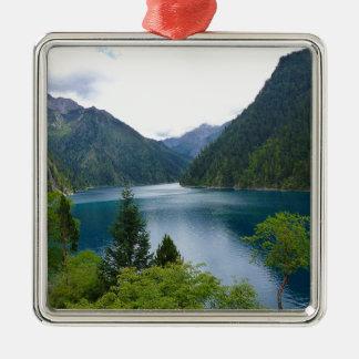 Blue Lake Metal Ornament