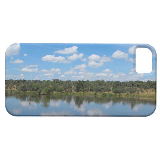 Blue Lake & Sky & Green Photo Landscape iPhone SE/5/5s Case