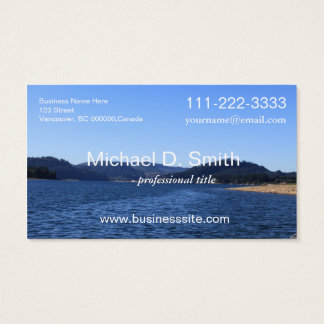 Blue lake, sky, moutain landscape professional business card