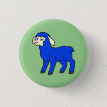 Blue Lamb Button