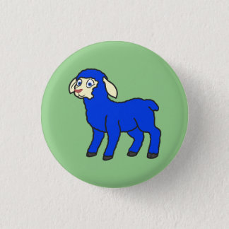 Blue Lamb Button