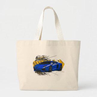 Blue LAMBO ABSTRACT Bag