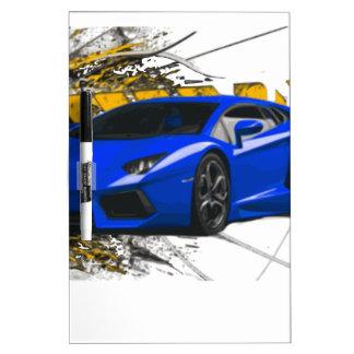 Blue LAMBO ABSTRACT Dry-Erase Board