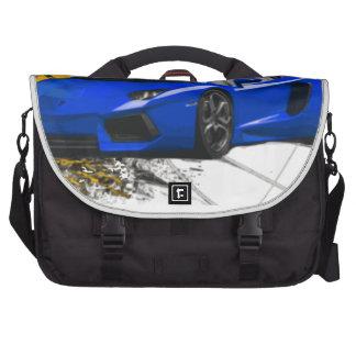 Blue LAMBO ABSTRACT Laptop Messenger Bag