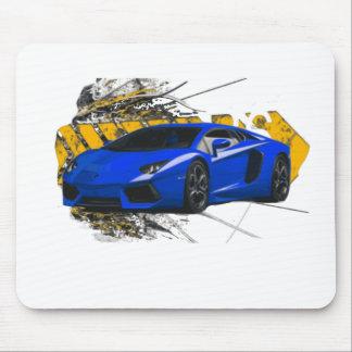 Blue LAMBO ABSTRACT Mouse Pad