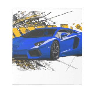 Blue LAMBO ABSTRACT Memo Notepads