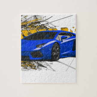 Blue LAMBO ABSTRACT Puzzle