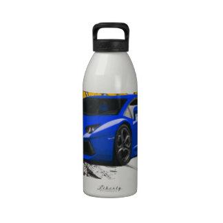 Blue LAMBO ABSTRACT Reusable Water Bottles