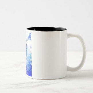 Blue lamp intensifies Two-Tone coffee mug