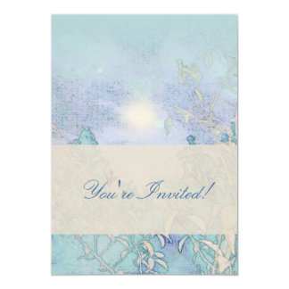 "Blue Landscape Harmony 5"" X 7"" Invitation Card"
