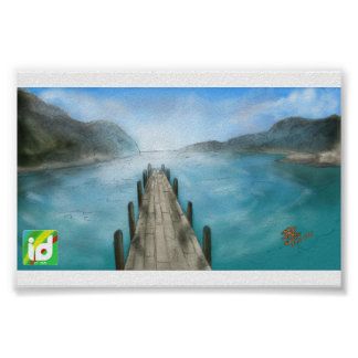Blue Landscape - ID (Poster) Poster