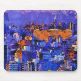 Blue landscape mouse pad
