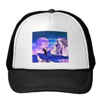 Blue landscape with motivational quote trucker hat
