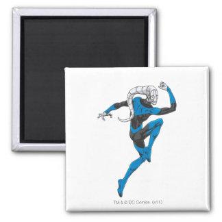 Blue Lantern 1 2 Inch Square Magnet
