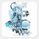 Blue Lantern Graphic 1 Square Sticker