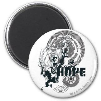 Blue Lantern Graphic 4 2 Inch Round Magnet