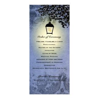 Blue Lantern Streetlamp Wedding Program