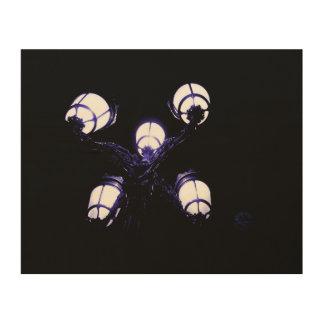 blue lantern wood wall decor