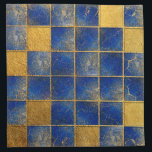 "Blue Lapis Lazuli and gold pattern Napkin<br><div class=""desc"">Blue Lapis Lazuli and gold pattern</div>"