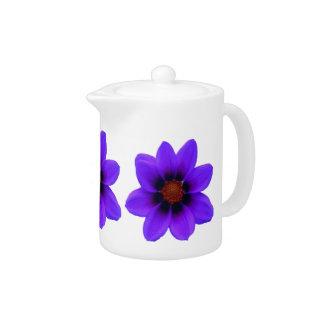 Blue Large Flowers Teapot