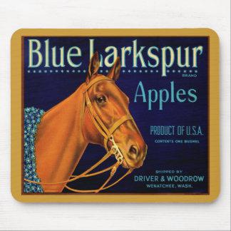 Blue Larkspur Champion Horse Mouse Pad
