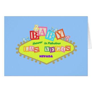 BLUE Las Vegas Baby Shower Card