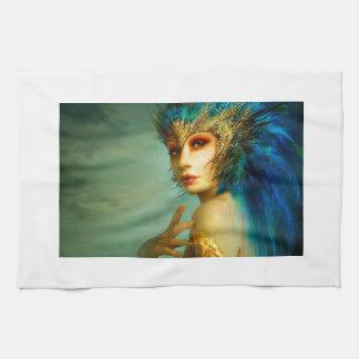 Blue Las Vegas Girl Hand Towel