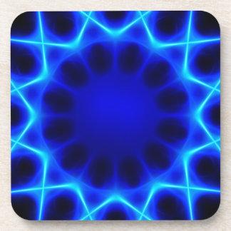 Blue laser #2 beverage coaster
