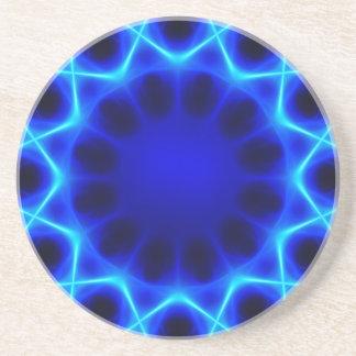 Blue laser #2 drink coaster