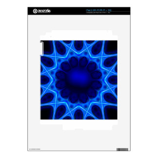blue laser #3 decal for iPad 2